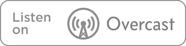 Listen on Overcast icon in grey