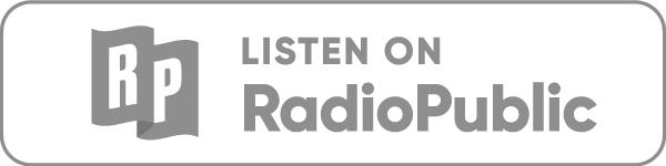 Listen on RadioPublic icon in grey