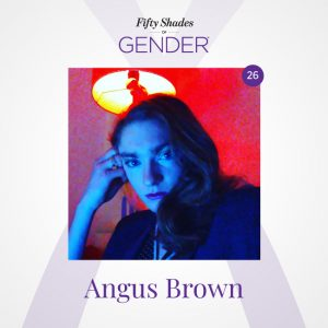 Podcast image with Angus Brown (Annie)