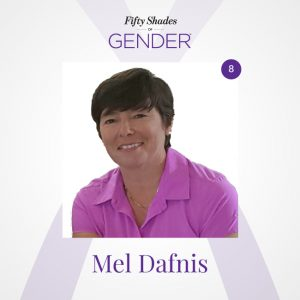 Podcast image with Mel Dafnis