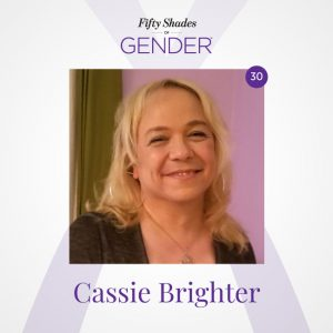 Podcast image with Cassie Brighter