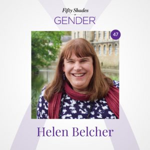 Podcast image with Helen Belcher